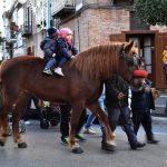 Gli animali in processione intorno al Castello di Cicciano (ph Brigitta Casieri)