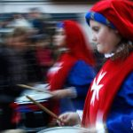 La banda musicale alla processione degli animali di Cicciano (ph Daniela Cesarini)