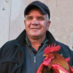 Un ciccianese mostra orgoglioso il suo gallo per la benedizione degli animali (ph Daniele D'Ari)