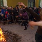Si balla in piazza a Cicciano per la festa di Sant'Antonio Abate (ph Gianfranco Adduci)
