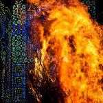 Il focarone e le luminarie della festa di Sant'Antonio a Cicciano (ph Daniele D'Ari)