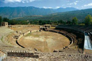 Panorama dell'Anfiteatro Romano di Avella