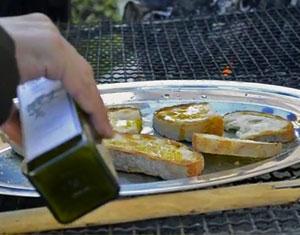 Bruschette con l'olio di Carife a Carifolio