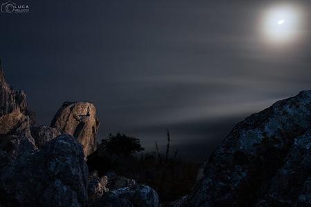 L'Antece illuminato dalla luna