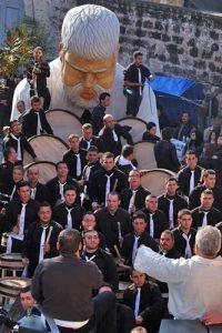 Festa di Sant'Antonio a Macerata Campania, una Battuglia della Pastellessa