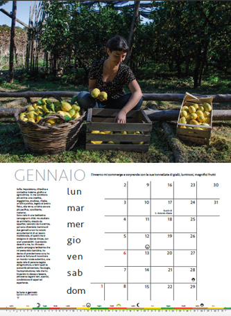 Calendario Donne di Terra 2017 - mese di gennaio