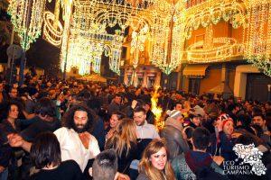 Festa di Sant'Antonio a Cicciano, tammurriata intorno al falò (ph Gianfranco Adduci)