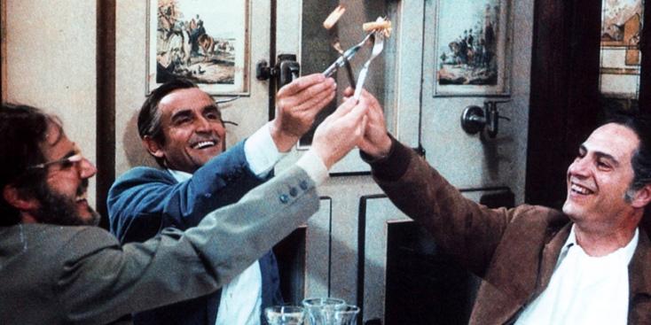 Gassman e Manfredi in un film di Ettore Scola, a cui è dedicato il primo Festival della Cinegustologia