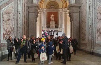I primi turisti alla Reggia di Caserta con il treno Reggia Express