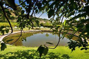 Il lago per i trattamenti con il fango presso le Stufe di Nerone a Baia