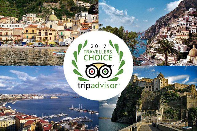 La Campania premiata ai Travellers' Choice Destinations Awards 2017 di Tripadvisor
