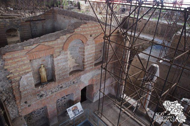 """Veduta degli scavi della """"villa augustea"""" di Somma Vesuviana"""