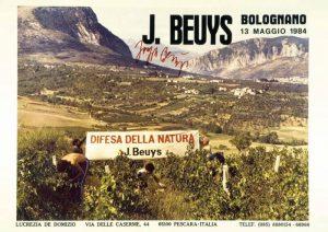 """Joseph Beuys, cartolina del progetto """"difesa della natura"""""""