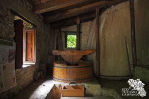 L'interno del mulino nell'Oasi WWF di Morigerati (ph Gianfranco Adduci)