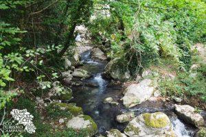 Corso d'acqua nell'Oasi di Morigerati interno mulino oasi morigerati (ph Gianfranco Adduci)