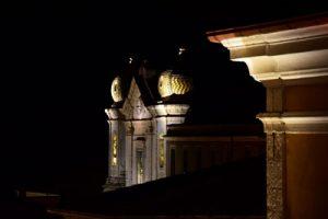 Panorama notturno a Cerreto Sannita, nel Sannio