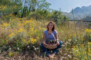 Antonella Vanacore sulle colline di Vico Equense