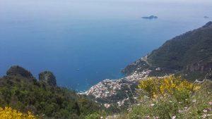 Panorama di Positano dall'agriturismo La Ginestra a Vico Equense