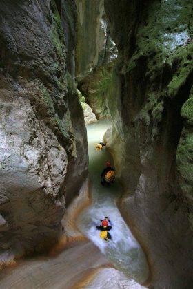 Itinerari di Canyoning nelle conche di Laviano