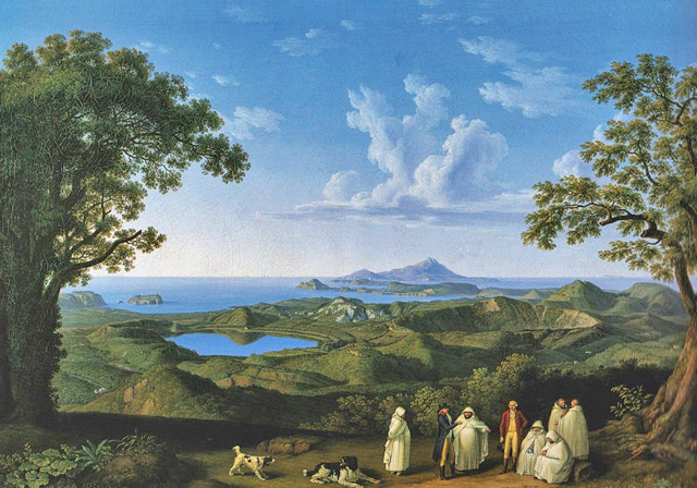"""Campi Flegrei dai Camaldoli"", opera di Jacob Philipp Hackert"