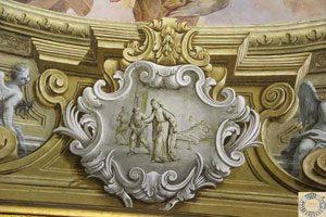 Un affresco nella Cappella Bianchi della Giustizia nell'Ospedale degli Incurabili a Napoli