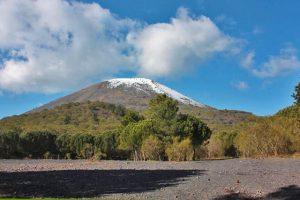 Cratere Vesuvio innevato