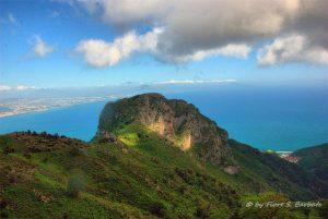 Panorama sul Golfo di Salerno dal Monte Avvocata