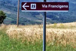 La via Francigena sul tratto della Via Traiana