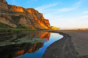 Il laghetto nell'oasi di Torrefumo a Monte di Procida