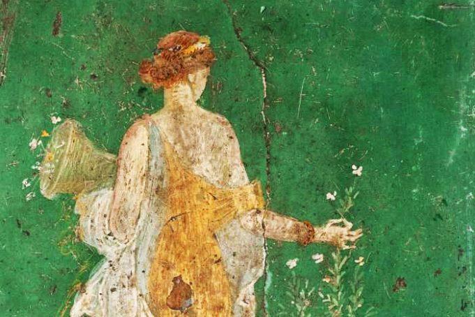 Affresco della Flora o Primavera dalla Villa Arianna di Stabiae