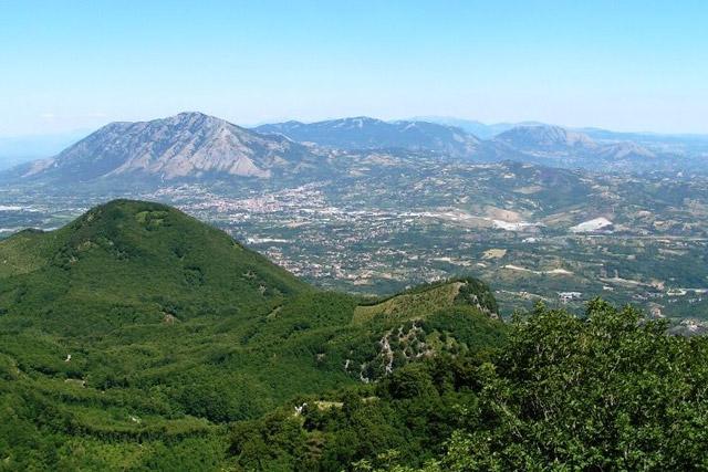 Oasi WWF Montagna di Sopra - panorama sul Sannio