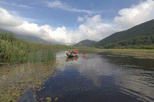 In kayak sul lago Maetse