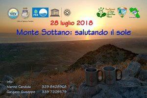 Monte Sottano - Salutando il sole