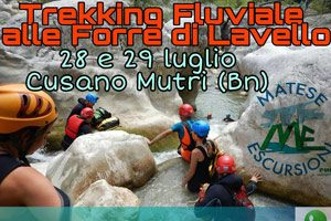 Trekking fluviale nelle forre di Lavello