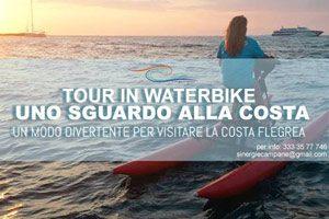 in water bike lungo la costa flegrea