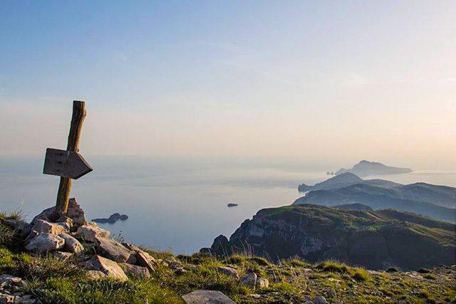 Panorama dal monte Molare sul Faito