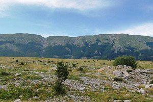 La cresta del Monte Mutria sul Matese