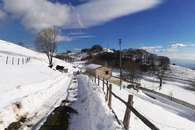bike snow parco del matese