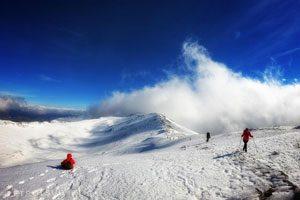 Trekking sul Monte Cervati con la neve