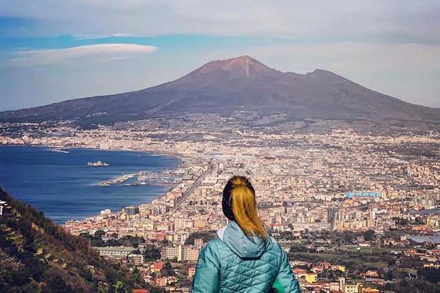 Panorama Vesuvio dal Bosco di Quisisana
