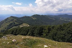 Panorama dalla vetta del monte Taburno