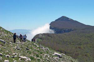 Trekkink per la cima Panormo sugli Alburni