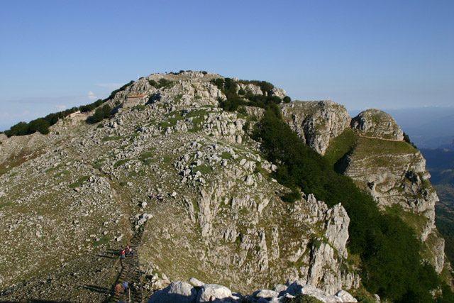 In vetta sul Monte Cervati