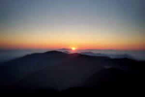 tramonto sull'Alta Via del Monti Lattari