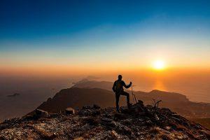 Tramonto dal Monte Molare sul Faito