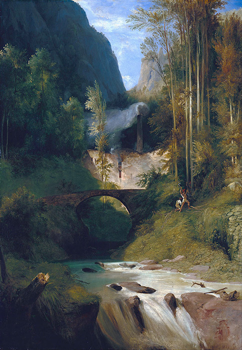 La Valle dei Mulini ad Amalfi in un dipinto di Carl Blechen (1829)