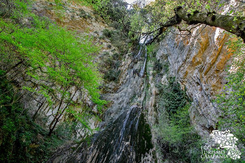 """La cascata alta oltre 20 metri nelle riserva protetta """"Valle delle Ferriere"""" (ph Gianfranco Adduci)"""